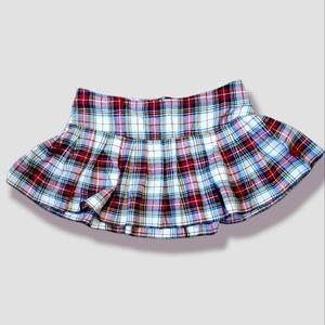 Tripp NYC Plaid Pleated Skirt